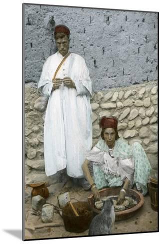 Mohamed Ben Ali and His Wife, El Kantara, Tunisia--Mounted Giclee Print