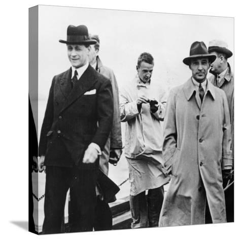 Edsel Ford Visiting Ford Dagenham, Essex, 1930S--Stretched Canvas Print
