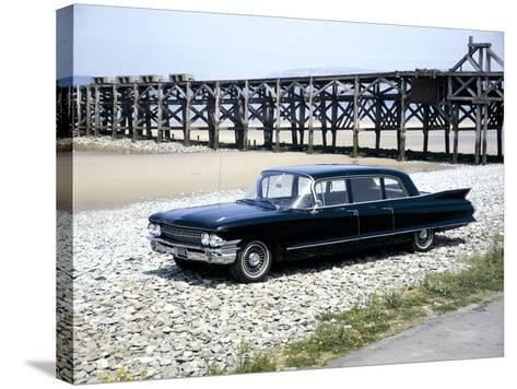 A 1961 Cadillac Presidential Limousine on a Beach--Stretched Canvas Print