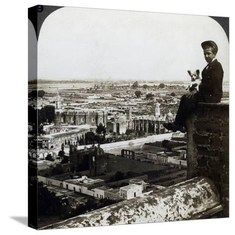 View of Cholula, Mexico-Underwood & Underwood-Stretched Canvas Print