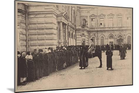 A Russian Bread Line Guarded by the Imperial Police, March 1917--Mounted Giclee Print
