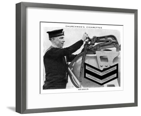 Seaman, 1937- WA & AC Churchman-Framed Art Print
