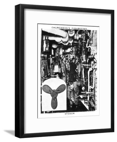 Stoker, 1937- WA & AC Churchman-Framed Art Print