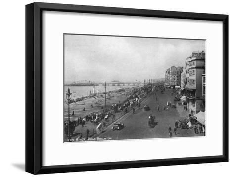 King's Road, Brighton, East Sussex, Early 20th Century--Framed Art Print