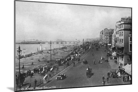 King's Road, Brighton, East Sussex, Early 20th Century--Mounted Giclee Print