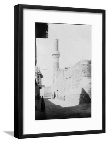 Backstreet and Old Mosque, Baghdad, Iraq, 1917-1919--Framed Art Print