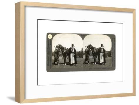 A Sheikh and His Bodyguard, Syria, 1900s--Framed Art Print