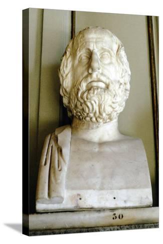 Euripedes, Ancient Greek Tragedian--Stretched Canvas Print