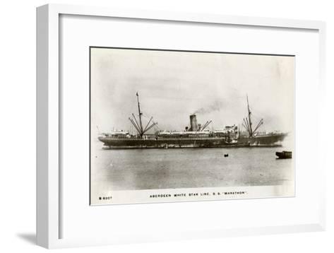 SS Marathon, Aberdeen White Star Line Steamship, C1903-C1920- Kingsway-Framed Art Print