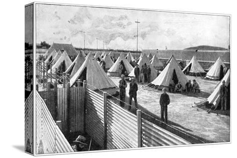 Boer Prisoners in a Camp at Bloemfontein, 2nd Boer War, 1899-1902--Stretched Canvas Print