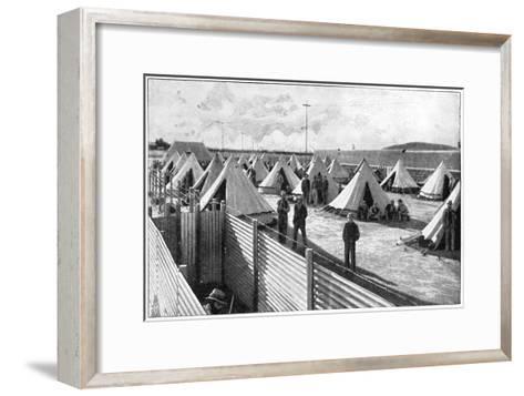 Boer Prisoners in a Camp at Bloemfontein, 2nd Boer War, 1899-1902--Framed Art Print