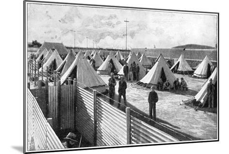 Boer Prisoners in a Camp at Bloemfontein, 2nd Boer War, 1899-1902--Mounted Giclee Print
