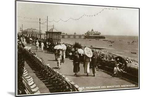 Pier, Promenade and Bandstand, Eastbourne, Sussex, C1920S--Mounted Giclee Print
