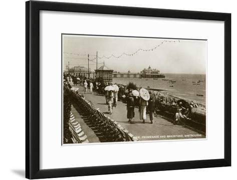 Pier, Promenade and Bandstand, Eastbourne, Sussex, C1920S--Framed Art Print