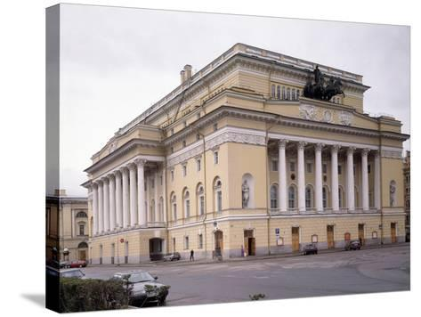 The Alexandrinsky Theatre in Saint Petersburg, 1828-1832-Carlo Rossi-Stretched Canvas Print