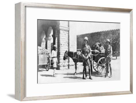 British Army Transport, Agra, India, 1916-1917--Framed Art Print