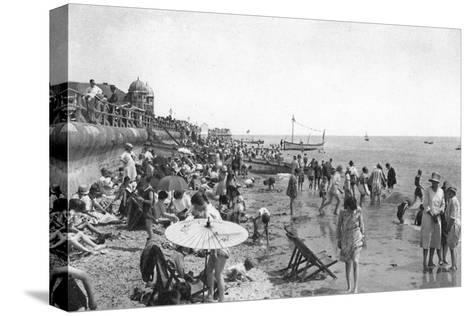 Holidaymakers on Bognor Regis Seafront, West Sussex, C1900s-1920S--Stretched Canvas Print