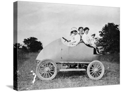 Robert Wil-De-Gose, His Mother and Nanny in the Bug, 1912--Stretched Canvas Print