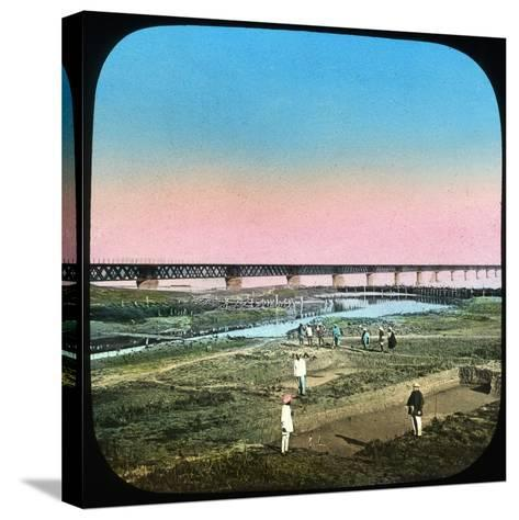 Sutlej Bridge, India, Late 19th or Early 20th Century--Stretched Canvas Print