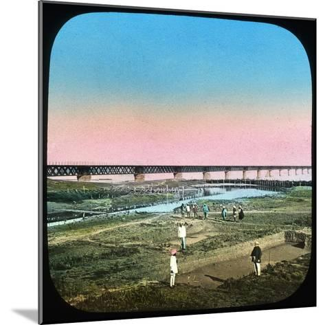 Sutlej Bridge, India, Late 19th or Early 20th Century--Mounted Giclee Print