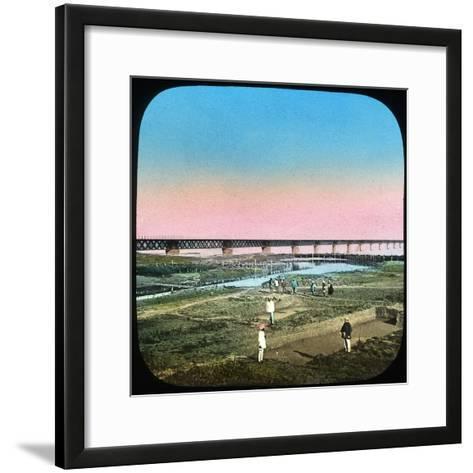 Sutlej Bridge, India, Late 19th or Early 20th Century--Framed Art Print