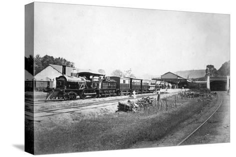The Royal Train Leaving Kandy Station, Sri Lanka, C1910s--Stretched Canvas Print