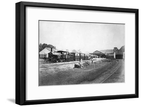 The Royal Train Leaving Kandy Station, Sri Lanka, C1910s--Framed Art Print