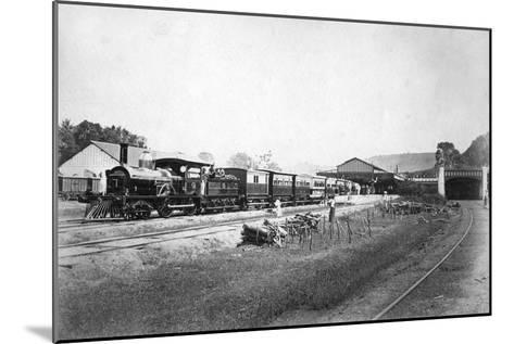 The Royal Train Leaving Kandy Station, Sri Lanka, C1910s--Mounted Giclee Print