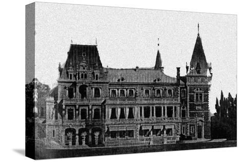Rebuilding Project of the Massandra Palace by M. Messmacher, 1889--Stretched Canvas Print
