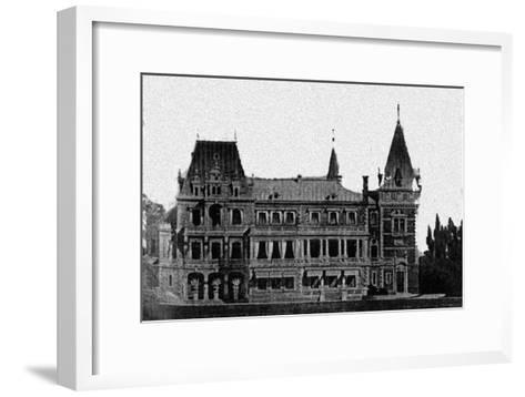 Rebuilding Project of the Massandra Palace by M. Messmacher, 1889--Framed Art Print