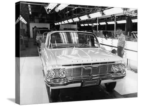 Chevrolet Assembly Line--Stretched Canvas Print