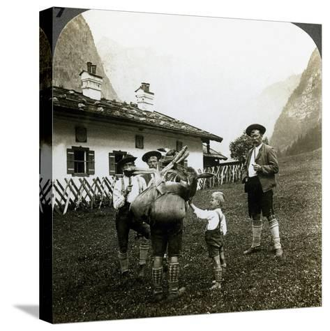 Bavarian Mountaineers, Germany-Underwood & Underwood-Stretched Canvas Print