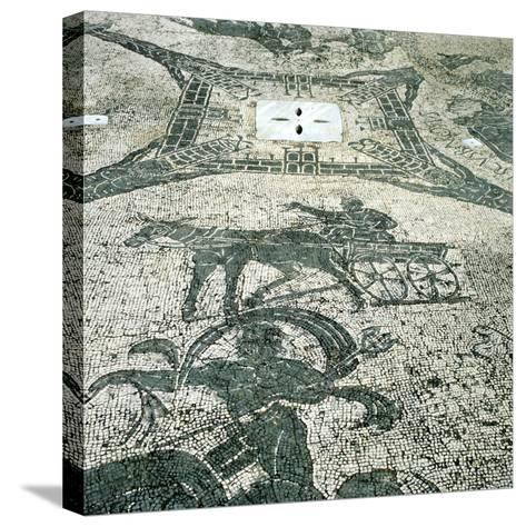 Chariotieer, Mosaic, Cisarii, Ostia, Italy, C1st Century--Stretched Canvas Print