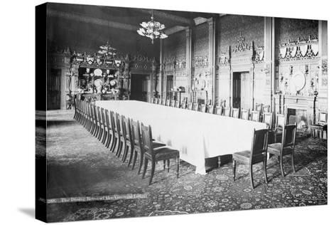 The Dining Room, Viceregal Lodge, India, 20th Century--Stretched Canvas Print