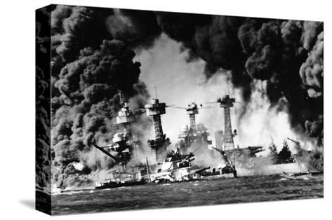 Pearl Harbor on December 7, 1941--Stretched Canvas Print
