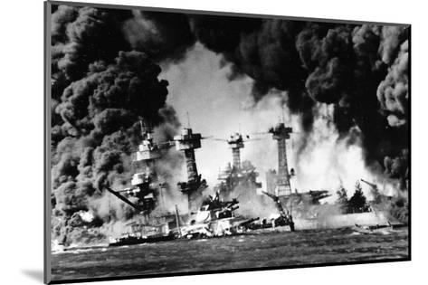 Pearl Harbor on December 7, 1941--Mounted Giclee Print