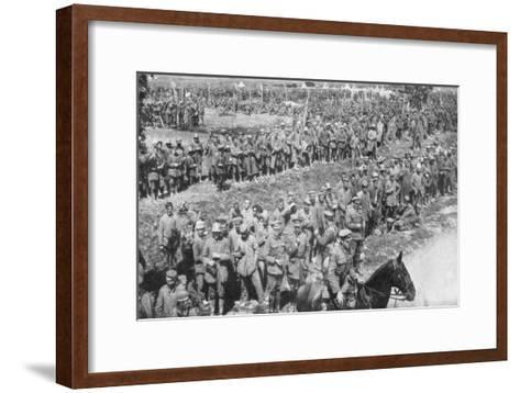 Columns of German Prisoners, Somme, France, 1918--Framed Art Print