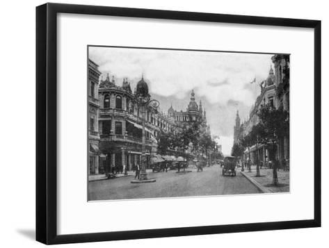 Avenida Rio Branco, Rio De Janeiro, Brazil, Early 20th Century--Framed Art Print