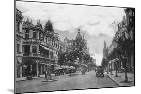 Avenida Rio Branco, Rio De Janeiro, Brazil, Early 20th Century--Mounted Giclee Print