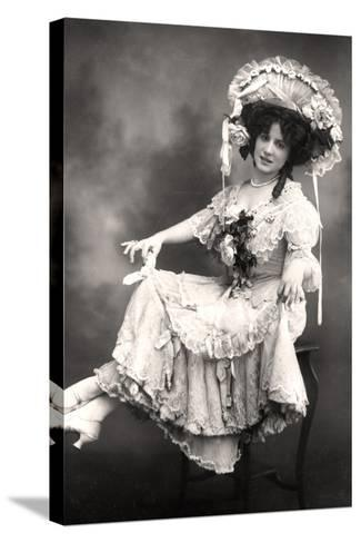 Fanny Dango (1878-197), Singer and Dancer, Early 20th Century-Foulsham and Banfield-Stretched Canvas Print