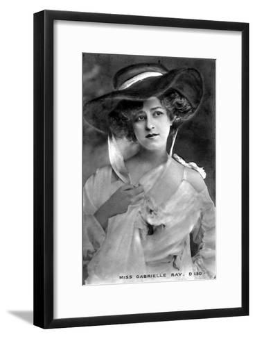 Gabrielle Ray (1883-197), English Actress, Early 20th Century--Framed Art Print