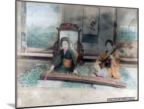 Japanese Music: Women Playing Koto and Samisen, Kobe, Japan--Mounted Giclee Print
