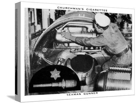 Seaman Gunner, 1937- WA & AC Churchman-Stretched Canvas Print