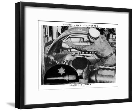 Seaman Gunner, 1937- WA & AC Churchman-Framed Art Print