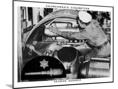 Seaman Gunner, 1937- WA & AC Churchman-Mounted Giclee Print