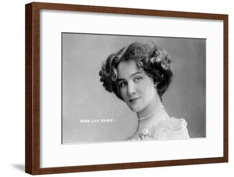 Lily Elsie (1886-196), English Actress, Early 20th Century- Johnston & Hoffman-Framed Art Print