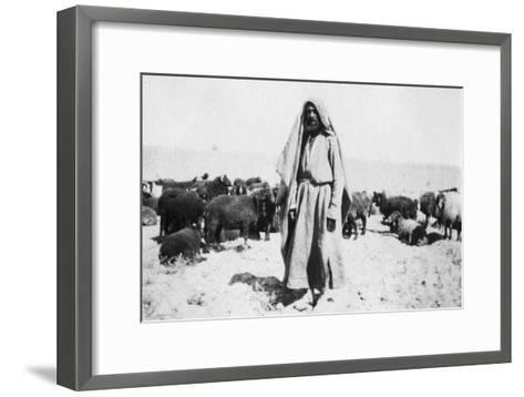 Arab Shepherd, Kazimain Area, Iraq, 1917-1919--Framed Art Print