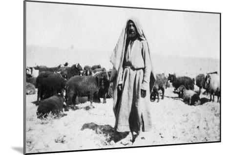 Arab Shepherd, Kazimain Area, Iraq, 1917-1919--Mounted Giclee Print