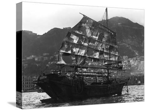 Chinese Boat in a Harbour, 20th Century--Stretched Canvas Print