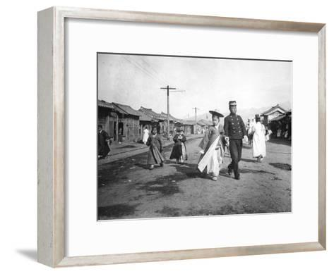 Street Scene, Korea, C1900--Framed Art Print